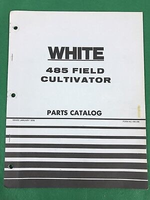 Oem White 485 Field Cultivator Parts Catalog 1976 438 206