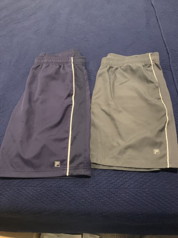 Fila Tennis Shorts Mens Large 2 Pack Silver And Navy