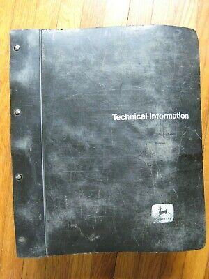 John Deere 6620 7720 8820 Sidehill Combine Technical Manual Tm-1202