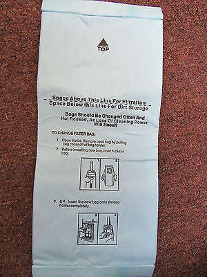 6 Vacuum Bags fit Panasonic U, U3 & U6. Micron Dual Layer Allergy Filtration