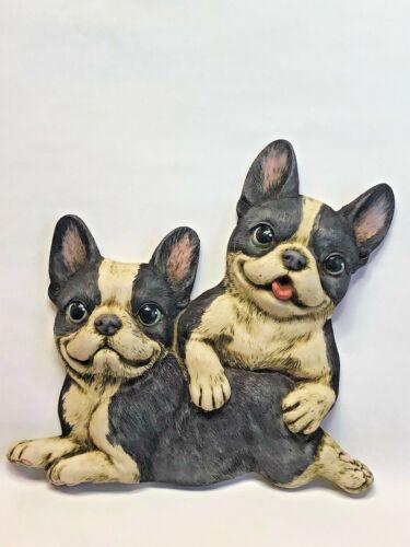 Harmony Kingdom Artist Neil Eyre Designs puppy dog love Boston terrier magnet