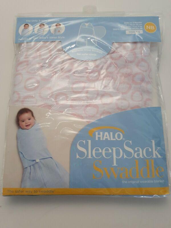 Halo Baby Sleep Sack Swaddle Wearable Blanket Adjustable Wrap Safer Newborn Pink