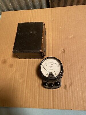 Vintage Weston Model 528 Analog Ac Ammeter With Case Amp Meter