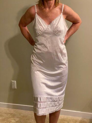 VTG Sears Lingerie Slip White 100% Antron Nylon Size 40