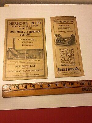1915 1917 Vintage Hershel Roth Hudson & Thurber Minneapolis Implement Brochures