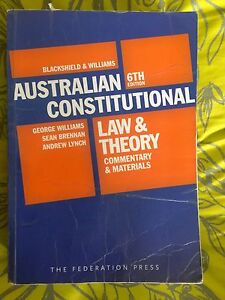 Constitutional blackshield Williams law public 6th sixth edition Kensington Eastern Suburbs Preview