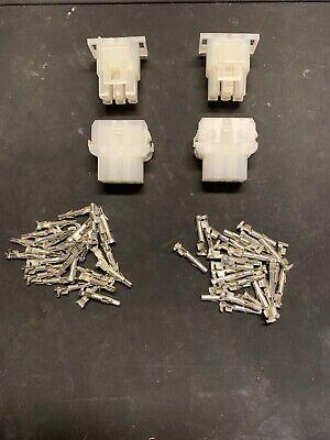 6 Pin Molex Connector Kit 2 Sets 14-20 Awg .084 Pins Arcade Pinball