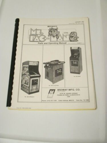 MIDWAY MS PACMAN  MANUAL