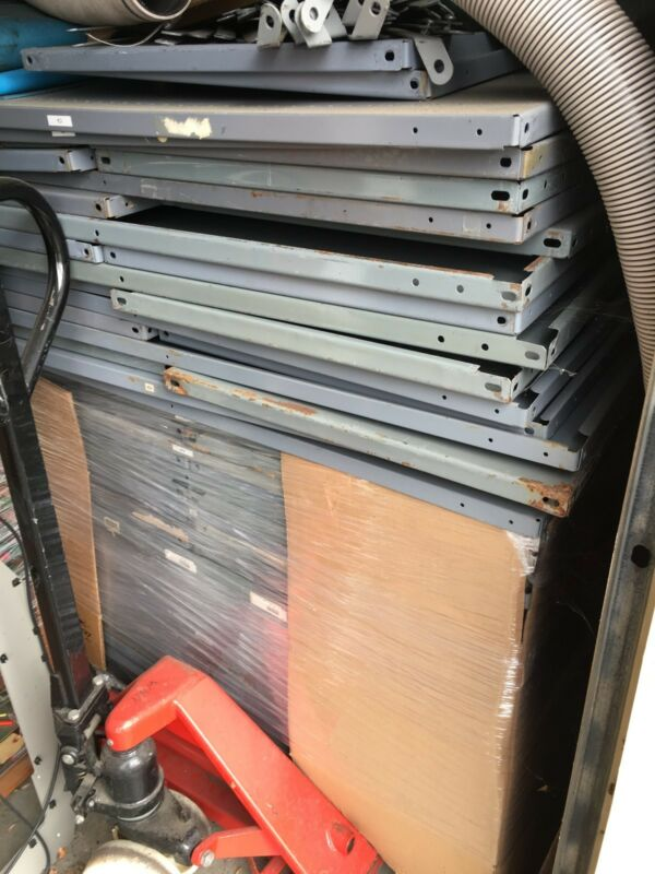 steel shelving, 24X48X85, ready to assemble