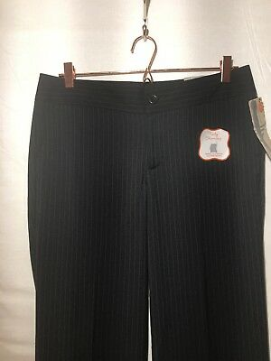 NEW Dockers Khaki Diem Women Striped Navy Slimming Career Pants Women 10 Petite
