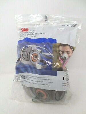 Genuine 3m 6300 Half Face Large Respirator 07026 Facepiece Filters Not Included