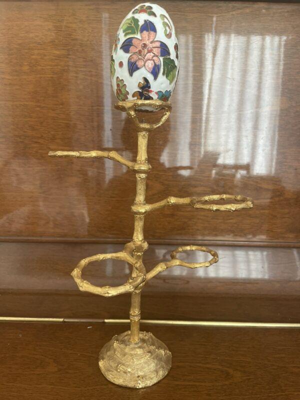 Vintage Easter Egg Holder, Egg Skelter, Egg Display, Egg Stand, Egg Rack Gold