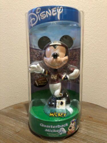 Washington Redskins Disney Quarterback Mickey Mouse Hand-Painted Bobblehead
