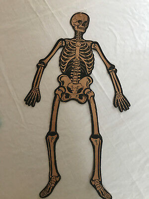 Vintage LUHRS Halloween Diecut Mechanical Skeleton 23