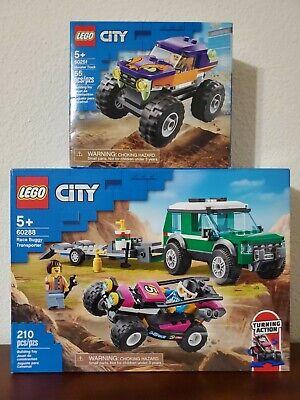 LEGO City 60288 Race Buggy Transporter & 60251 Monster Truck Lot
