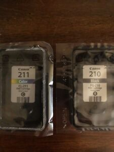 Brand new cannon ink cartridges black & color