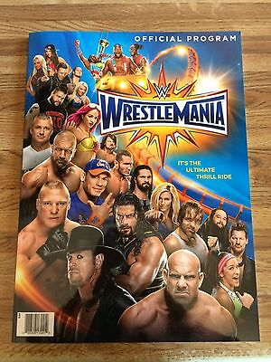 WWE Wrestlemania 33 & Hall of Fame Official Program Brand New 2017 Undertaker