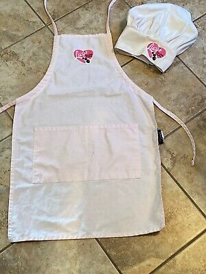 I Love Lucy Chocolate 🍫 Factory Pink Kitchen Apron + Hat From The Show-Faded!!