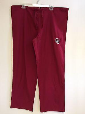 Oklahoma Crimson Sooners College Men's Women's Unisex Scrub Pants S-M-L-XL NWT