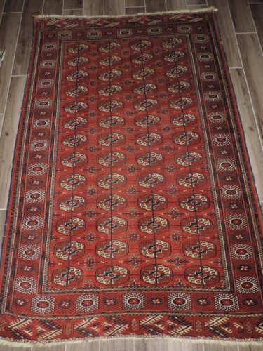 4x7ft. Handmade Tekke Turkoman Bokharra Wool Rug