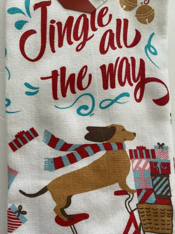 New Dachshund Christmas Set Of 2 Christmas Kitchen Hand Tea Towels Cuisinart