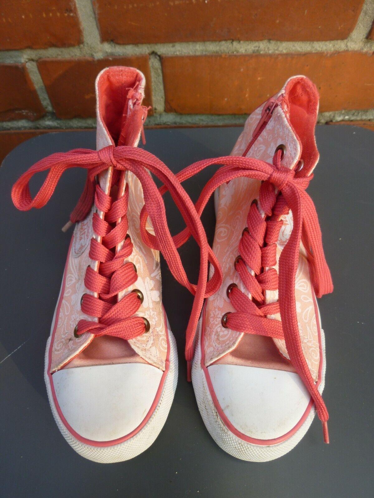 Schuhe Sneakers von Disney Violetta rosa Größe/Size 31 Reißverschluss