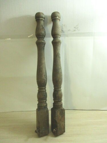 """Antique Wooden Steampunk Porch Railing Spindles Balusters 29"""" LONG Wood"""