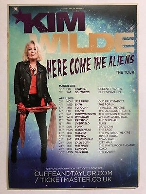 2x KIM WILDE promo FLYERS live 2018 here come the aliens uk tour