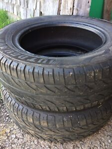 "Pair of 15"" tires"