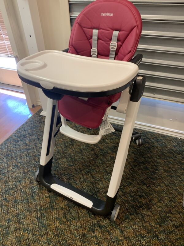 Peg Perego Siesta Highchair Preowned Made In Italy Fine Shape Berry Pink/Purple
