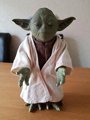"RARE Hasbro Star Wars 12"" Yoda Interactive Animated Talking Figure 2005 Vintage"