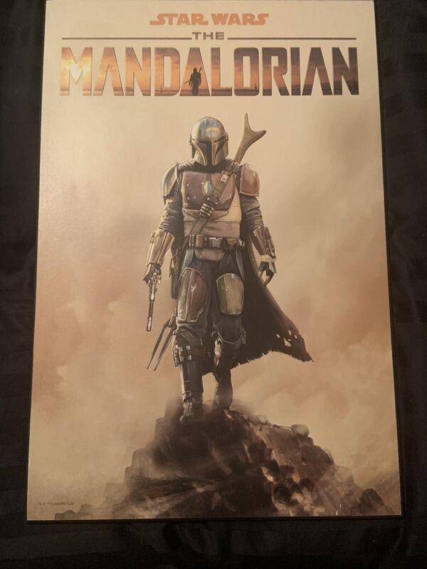 The Mandolorian Wood Poster