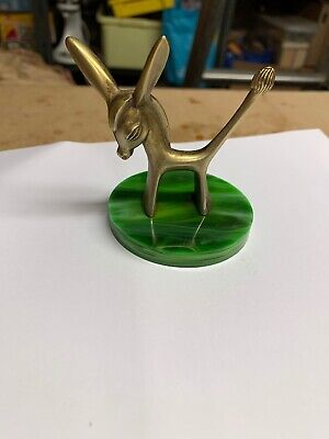 Vintage Mid Century Small Brass Deer Kitch Mid Modern Design