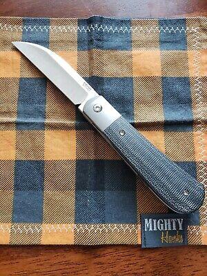 Pena Knives X Series Front Flipper Swayback XL Black Micarta