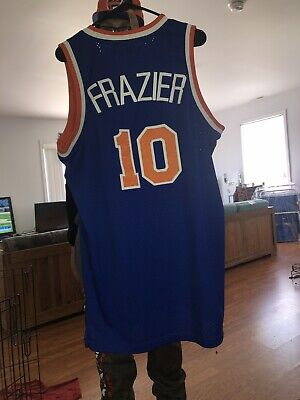Vtg NBA Reebok HWC New York Knicks Walt Clyde Fraiser Authentic Swgmn Jersey M
