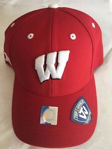 Wisconsin Badgers BIG Ten Baseball Hat - Adult Top of the World Cap - NWT