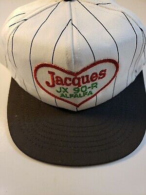 Jacques Alfalfa Pinstripe Trucker Style Hat! Vintage! Made In USA!