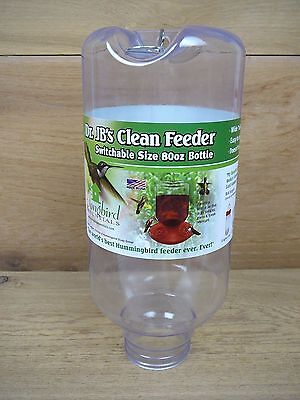 Dr. JB's Replacment Clean Hummingbird Feeder Jar Switchable Sizing 80oz Bottle