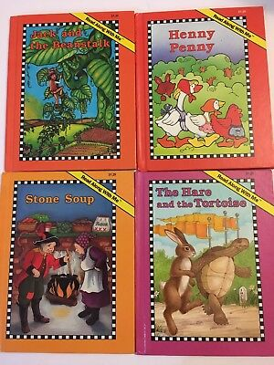 4 Read Along With Me Children's Traditional Story Books (see and say storybooks)