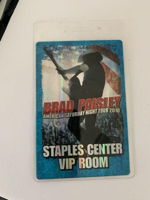 Brad Paisley 2010 Staples Center VIP Room Laminate Pass AM. Sat. Night Tour 2010