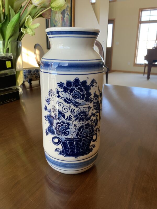 Blue Delft Handpainted Vase Made in Holland Beautiful!!!