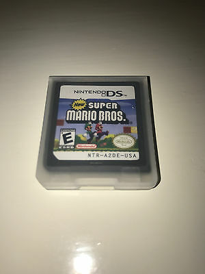 New Super Mario Bros Video Game W  Case For Nintendo Ds Lite Tested