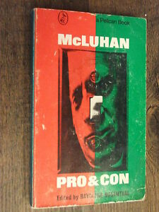 Details about Pelican Book A1100 Marshall McLuhan Pro & Con Edited by ...