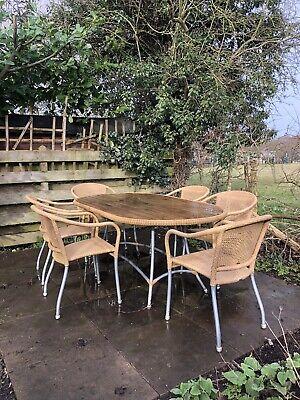 wooden garden furniture set used