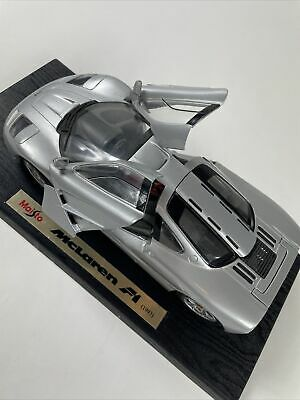 Maisto 1993 McLaren F1 Special Edition Silver Model  Diecast Car Scale 1:18