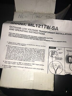 Intermatic Ml121tw-sa Outdoor Low Voltage Transformer W Timer 120 Vac