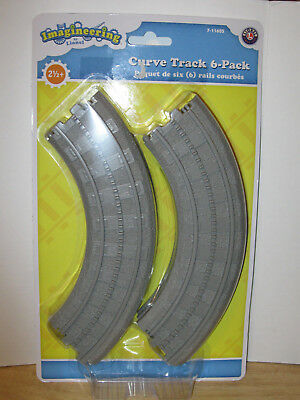 Imagineering by Lionel Curve Track 6-Pack #7-11605 NIP VHTF