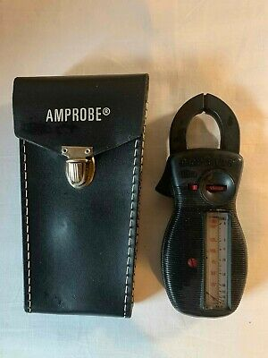 Vtg Professional Amprobe Ultra Rotary Scale Clamp Rs-3 Volt Amp Meter Case