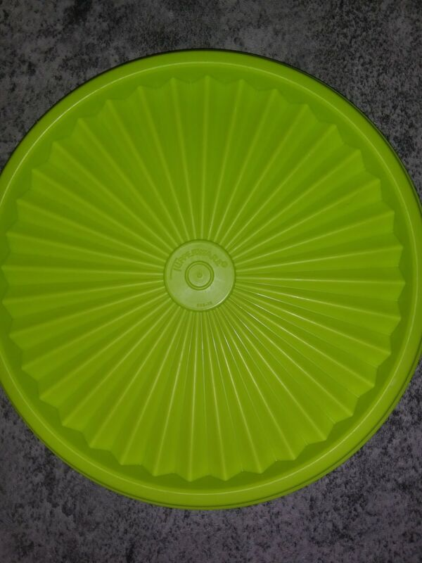 Tupperware #808 Neon Green Round Replacement Lid New