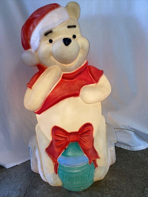 "Santas Best Disney Winnie The Pooh Santa Christmas Blow Mold Hunny Pot 33"" Yard"